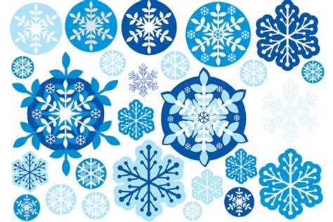 Blue Snowflakes Decorations by Interiorinstyle Decorating Transparent
