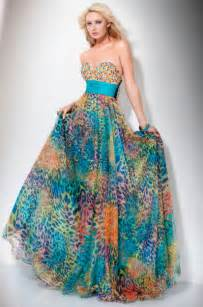 multi colored dress multi color prom dresses in seven colors colorful