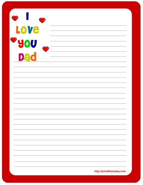 letter pad note pad stationery free printables for father
