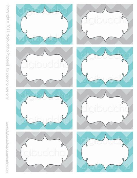 label templates modern chevron buffet food mailing labels cards
