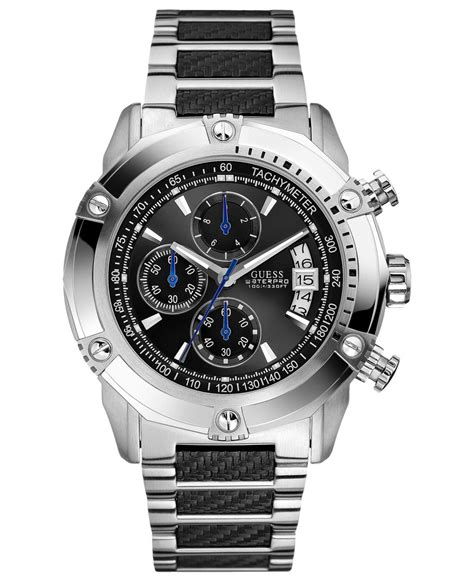 Jam Guess Waterpro lyst guess s chronograph stainless steel and
