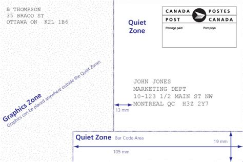 Address Canada Post Canada Post Machineable Mail Advisor Card Details Postcard Postcard Address Format