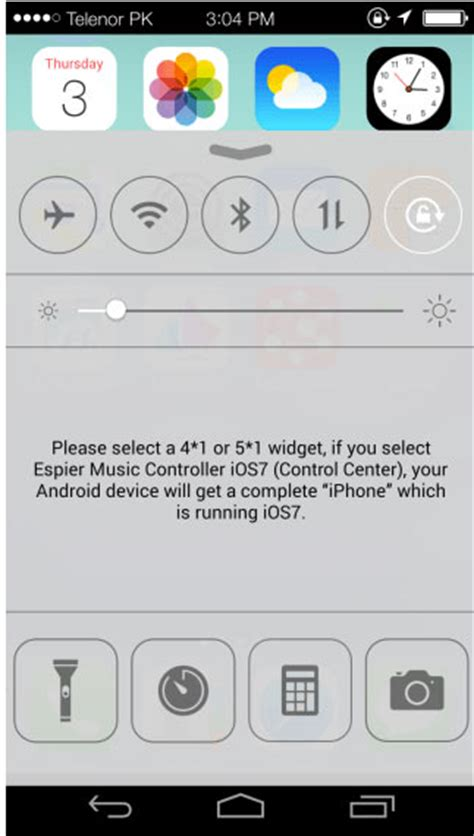 control center themes ios 7 get ios 7 theme launcher on android control center