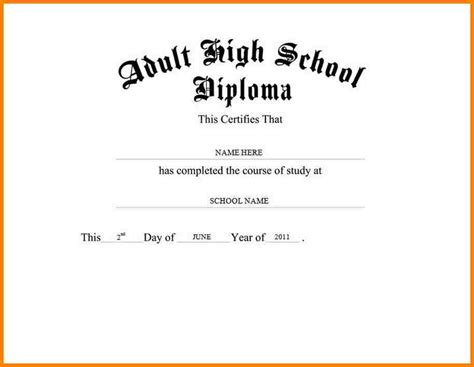 high school diploma templates 6 high school diploma template microsoft word sle of