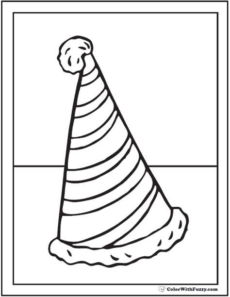 coloring pages of birthday hats birthday hat coloring coloring pages