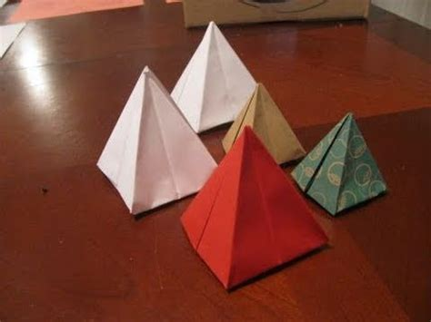 How To Make 3d Pyramid With Paper - make an origami pyramid