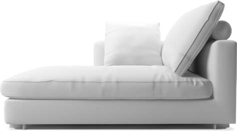 narrow chaise lounge clouds modern narrow chaise section