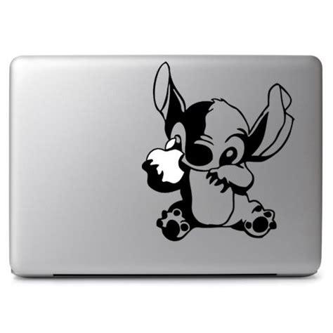 Macbook Aufkleber Marvel by Disney Stitch Eat Apple For Apple Macbook Air Pro Laptop