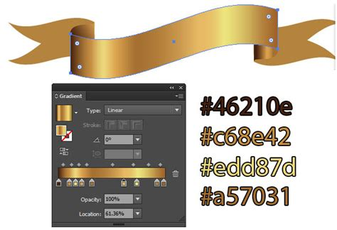 Warm Blue Color by Get Gilded With This Gold Ribbon Banner Vector Tutorial