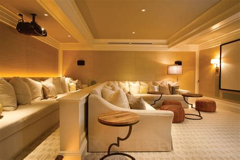 media room seating home theater contemporary with rope
