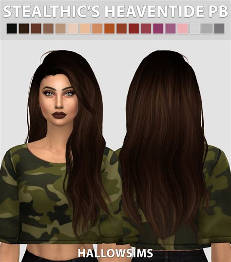 sims 4 hair hallow sims stealthic s heaventide pushed back hair