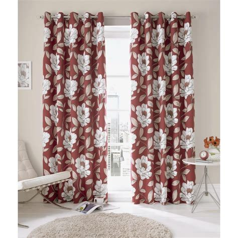 red floral drapes buy chilli red issy floral ring top curtains more