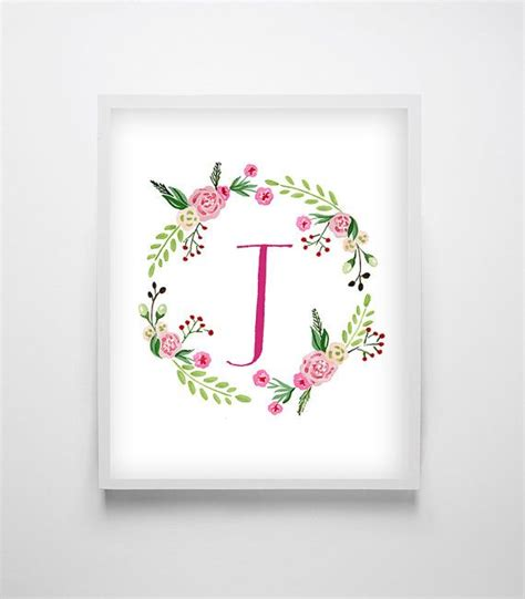 Floral J 17 best ideas about nursery monogram on