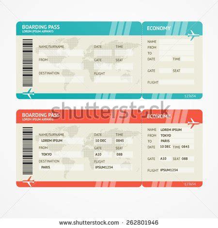 Galerry fake printable plane tickets