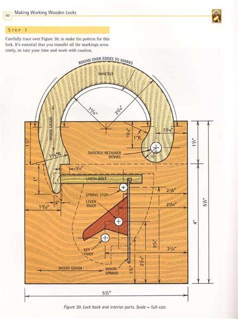 working wooden lock plan wood craft diy band  ebay