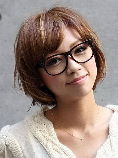 hairstyles with glasses and bangs hairstyles glasses