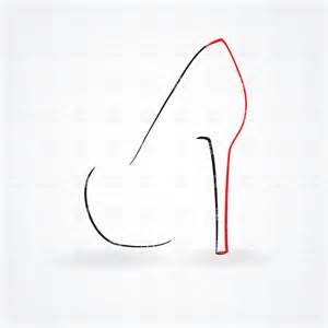 High Heel Shoes Outline by Symbolic High Heel Shoe Simple Outline Vector Image 23150 Rfclipart