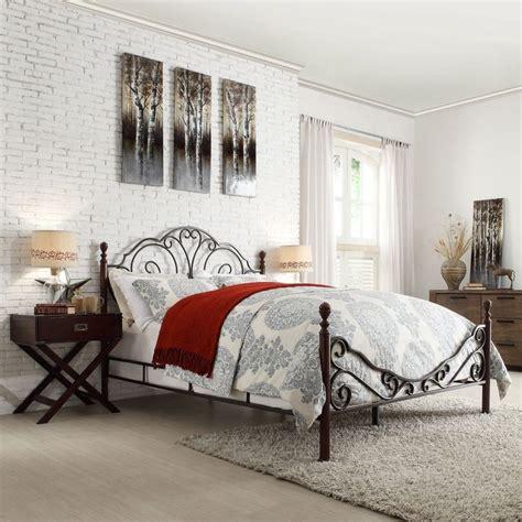 Iron Scroll Bed Frame Leann Graceful Scroll Bronze Iron Bed By Tribecca Home By Tribecca Home Great Deals Poster