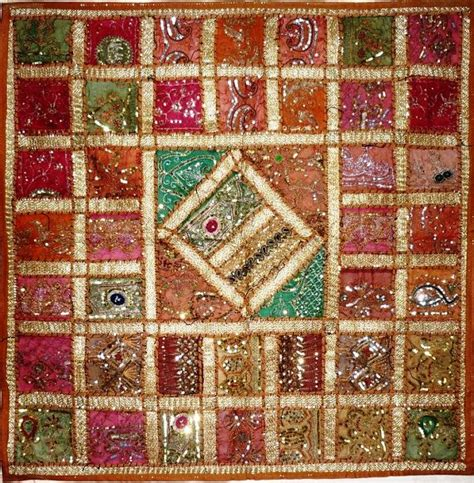 Indian Patchwork Wall Hanging - large hippie india indian handmade wall hanging