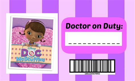 printable name tags for doctors doc mcstuffins doctor kit glue guns guns and birthdays