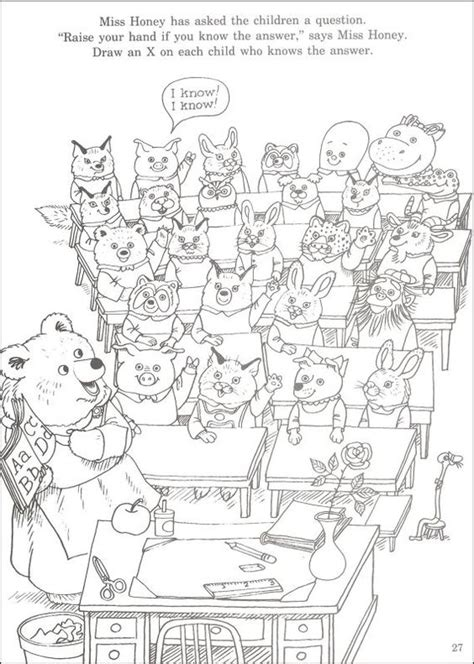 richard scarry coloring page little party pinterest