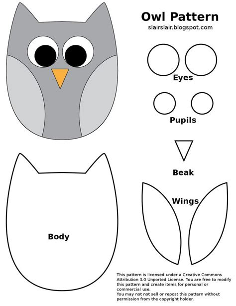owl templates for sewing fpf owl pattern png drive printables for free