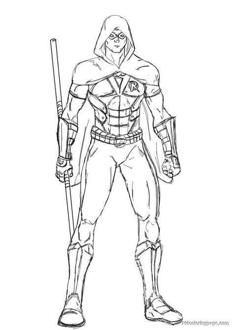 nightwing coloring pages bestofcoloring