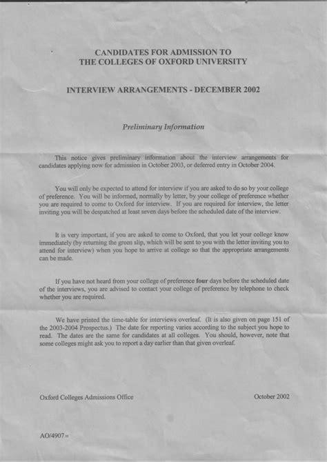 Acceptance Letter Oxford Arrangements Letter Studential