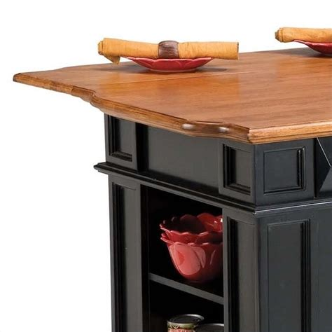 kitchen island cart with breakfast bar home styles island w breakfast bar black kitchen cart