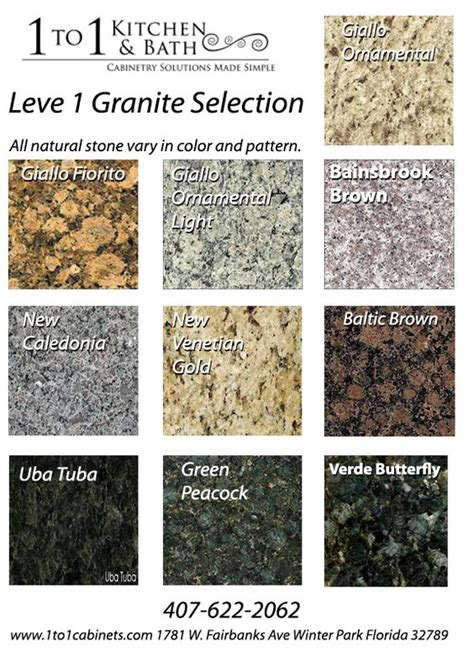 Level One Granite Countertops level 1 granite colors offered at the best prices www