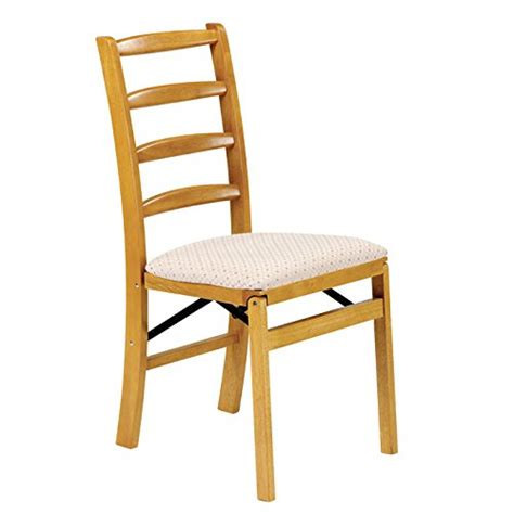 Dining Room Folding Chairs - stakmore shaker ladderback folding chair finish set of 2