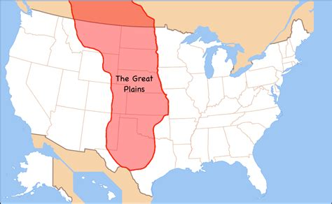 physical map of the united states great plains lesson 11 the midwest states april smith s technology class
