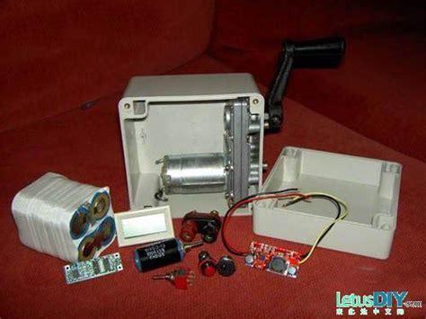 diy portable cranked generator letusdiy org diy