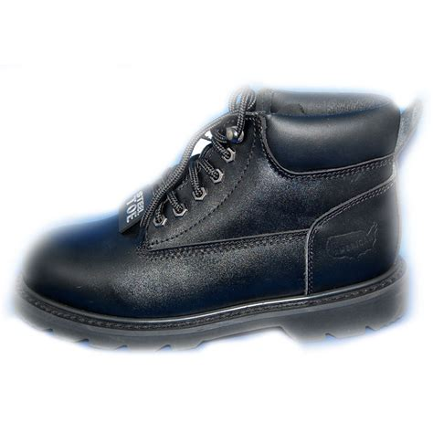 american shoes american x rugged black premium leather 5 quot safety steel