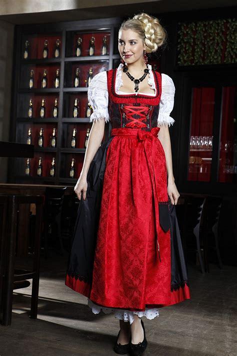 Blouse Combo Brokat dirndl kl brokat schwarz rot inklusive sch 252 rze bei
