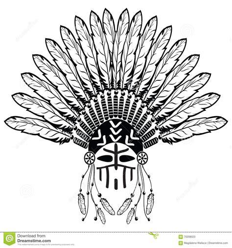 tribal pattern headdress aztec ethnic style headdress with plain feathers beads