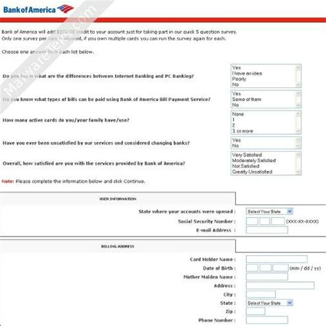 bank of america help desk phishing scam fools consumers with satisfaction survey