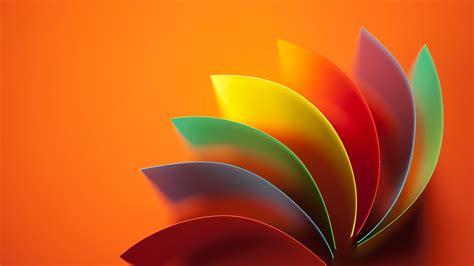 fondos de pantalla flor abstracta colores del arco iris fondo naranja  uhd  imagen