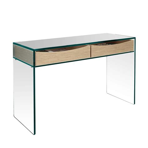 glass console table glass console table with drawers coalacre