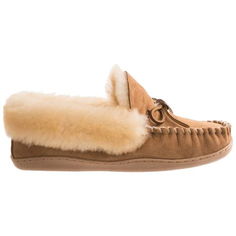 clarks slippers clarks faced shearling moc slippers for