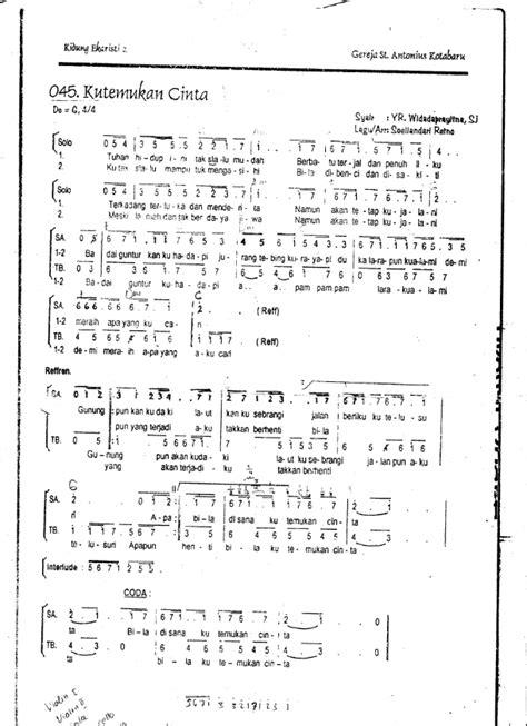 koor bapa kami punai menyongsong awan download teks koor dan partitur