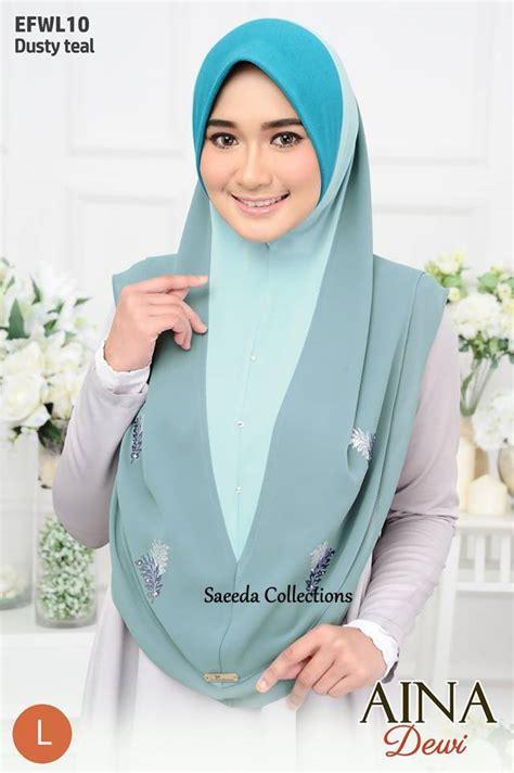 Dewi Layer tudung layer aina dewi saiz l saeeda collections