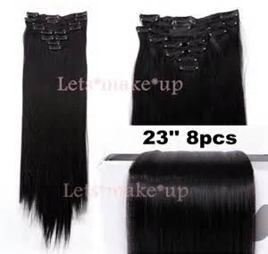 Ring Donat 8pcs 21 quot 24 quot 26 quot clip in hair extensions ponytail