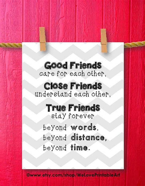 printable friendship poster gifts for best friends gift ideas art print idealpin