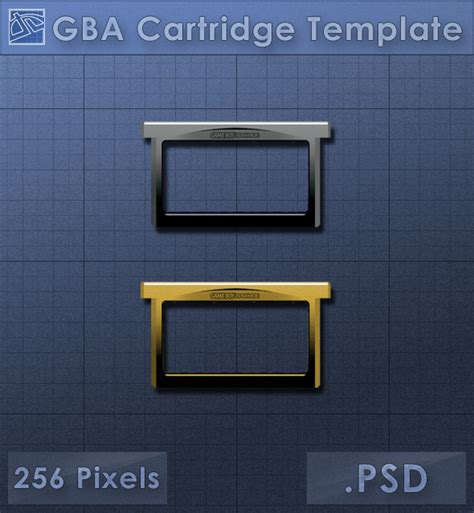 Gba Cartridge Icon Template By Voidsentinel On Deviantart Gameboy Label Template