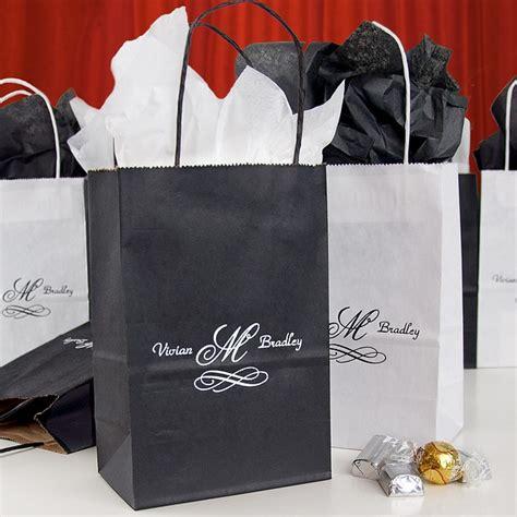 black wedding gift bags 5 x 8 custom printed petite paper wedding gift bags