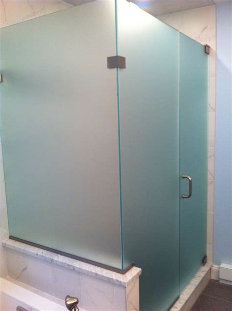 Frosted Shower Glass Doors Furniture Bathroom Cool Frosted Glass Shower Doors Custom Frameless Glass Corner Shower