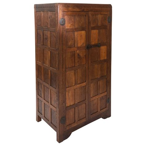 Thompson Furniture by Robert Mouseman Thompson Panelled Oak Wardrobe