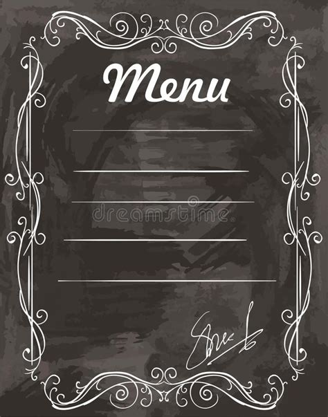 empty menu templates empty sle menu stock vector illustration of cafe