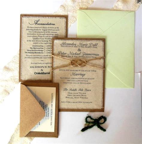 diy wedding invitations mint wedding invitation kits invitation kits and burlap fabric